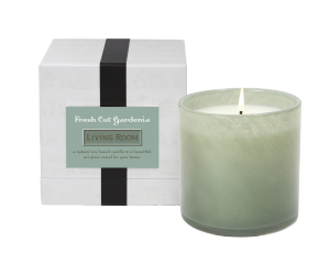 FRESH CUT GARDENIA / Living Room Lafco House & Home candle