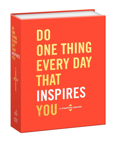 """Do One Thing A Day That Inspires You"" Book"