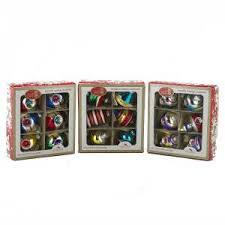 Early Years Glass Striped Reflector Ornaments, Set of 3 Boxes