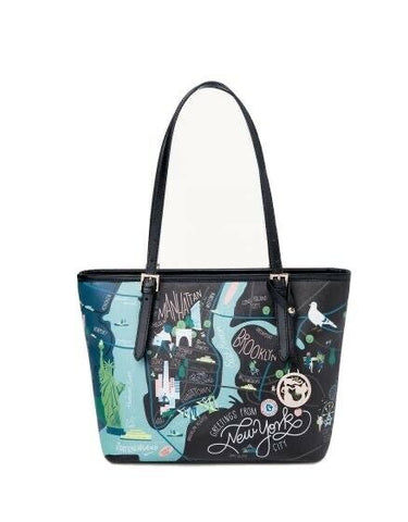 Spartina New York City Tote With Zipper