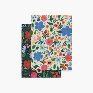 "Rifle Paper ""Wild Rose"" Pocket Notebooks Set/2"