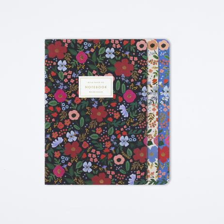 "Rifle Paper ""Wild Rose"" Medium Notebooks Set/3"