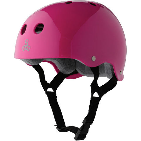 Triple Eight Brainsaver Pink Gloss / Grey - Shop Mothership