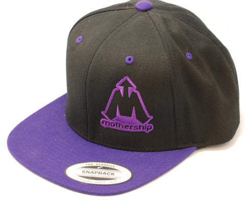 Mothership Two Tone Snapback Purple Black - Shop Mothership  - 1