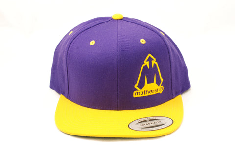 Mothership Two Tone Snapback Gold Purple - Shop Mothership  - 2
