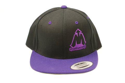 Mothership Two Tone Snapback Purple Black - Shop Mothership  - 2