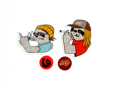 Hella Grip OG Sloth Pro Sticker Pack - Mothership