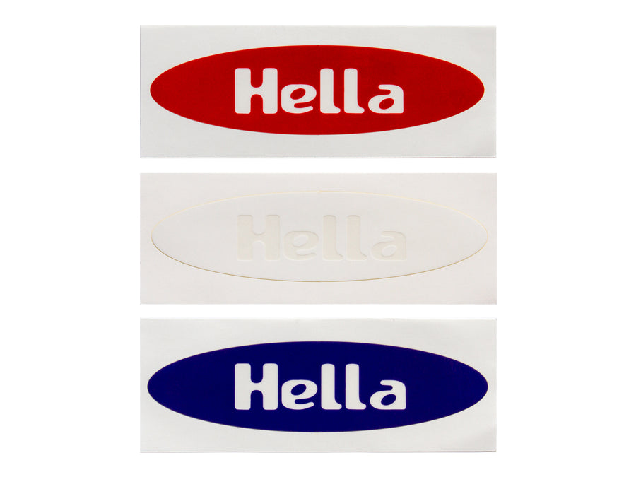 Hella Grip – Hella Sharp Stickers (Red, White and Blue) - Mothership