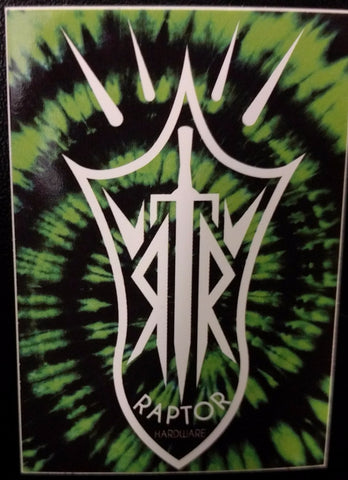 Raptor Tye Dye Sticker Green - Shop Mothership