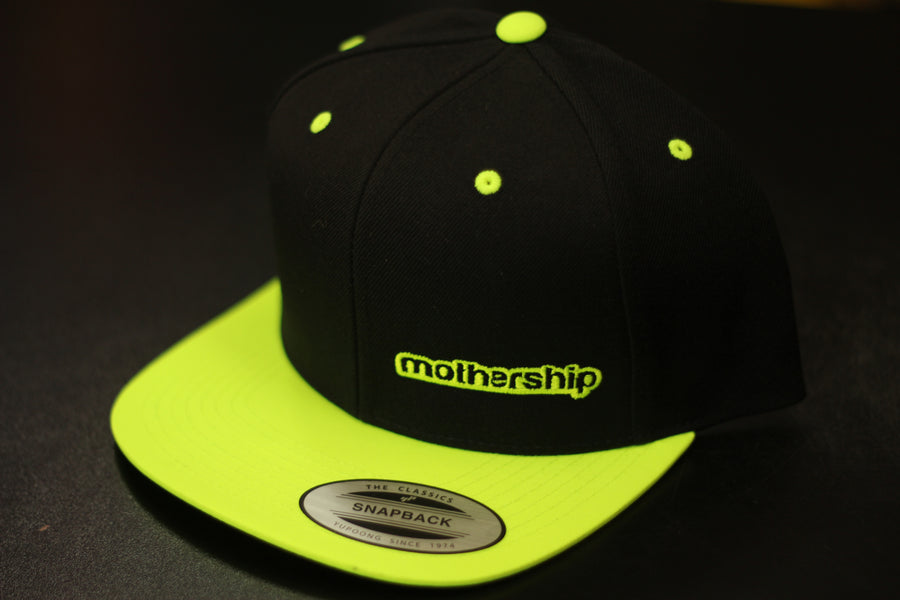 Mothership Two Tone Snapback Highlighter Yellow - Mothership