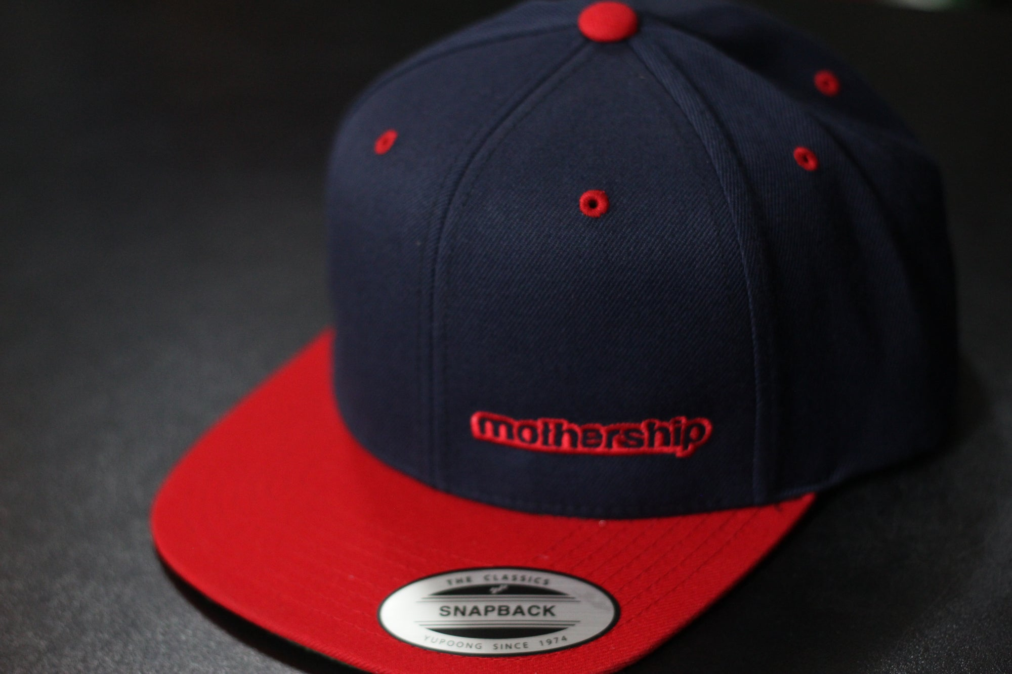 Mothership Two Tone Snapback Red Navy - Mothership