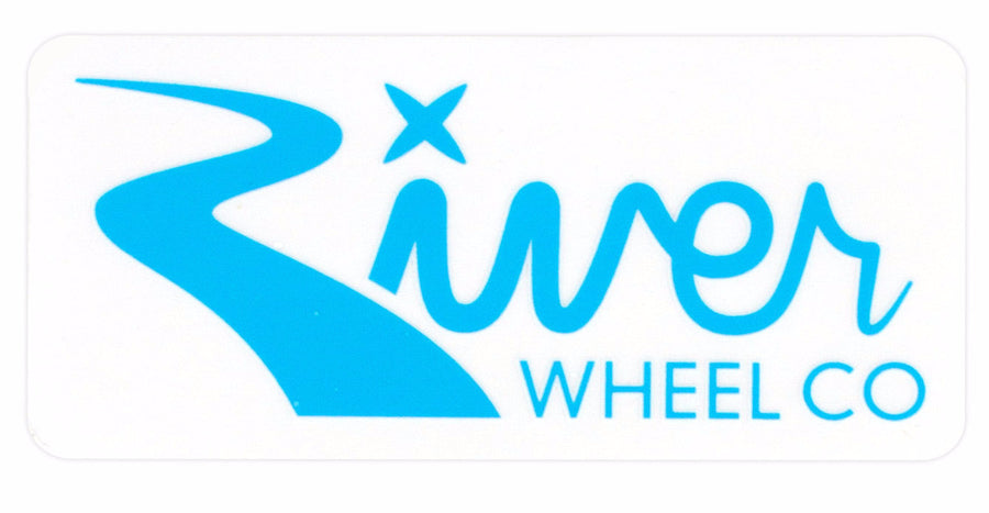 River Wheels Rectangle Sticker Large - Shop Mothership