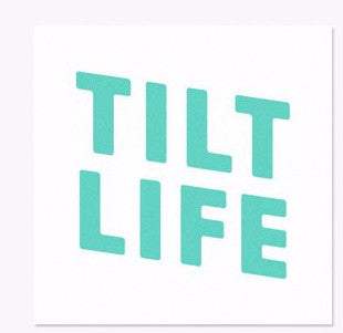 Tilt Stacked Life Sticker