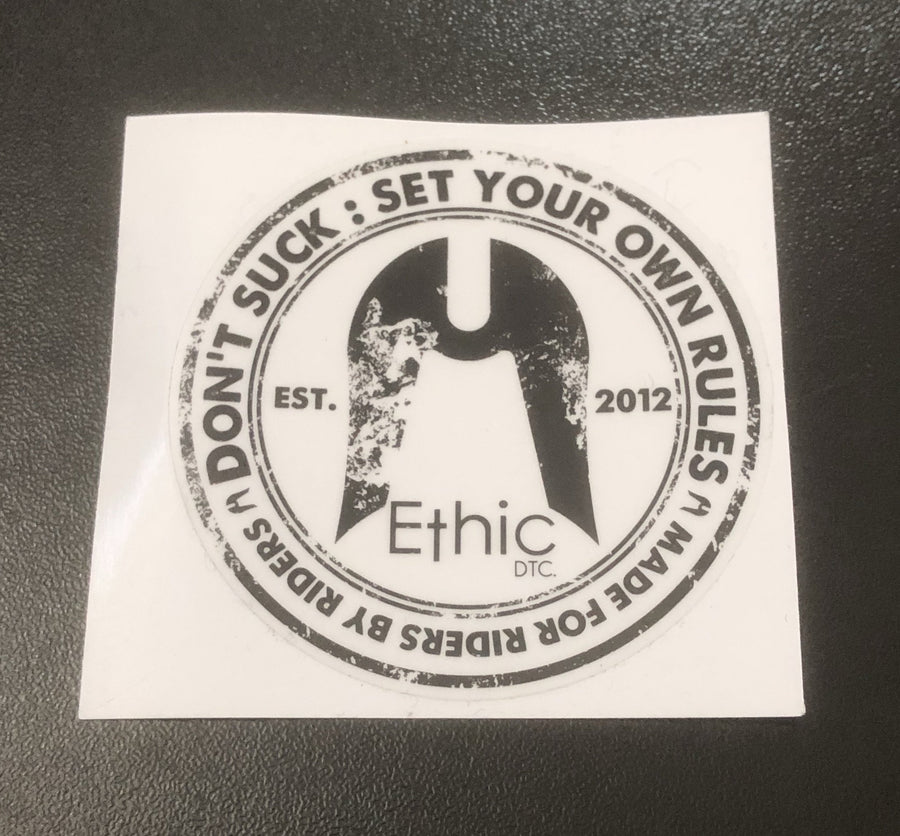 Ethic DTC Set Your Own Rules Sticker