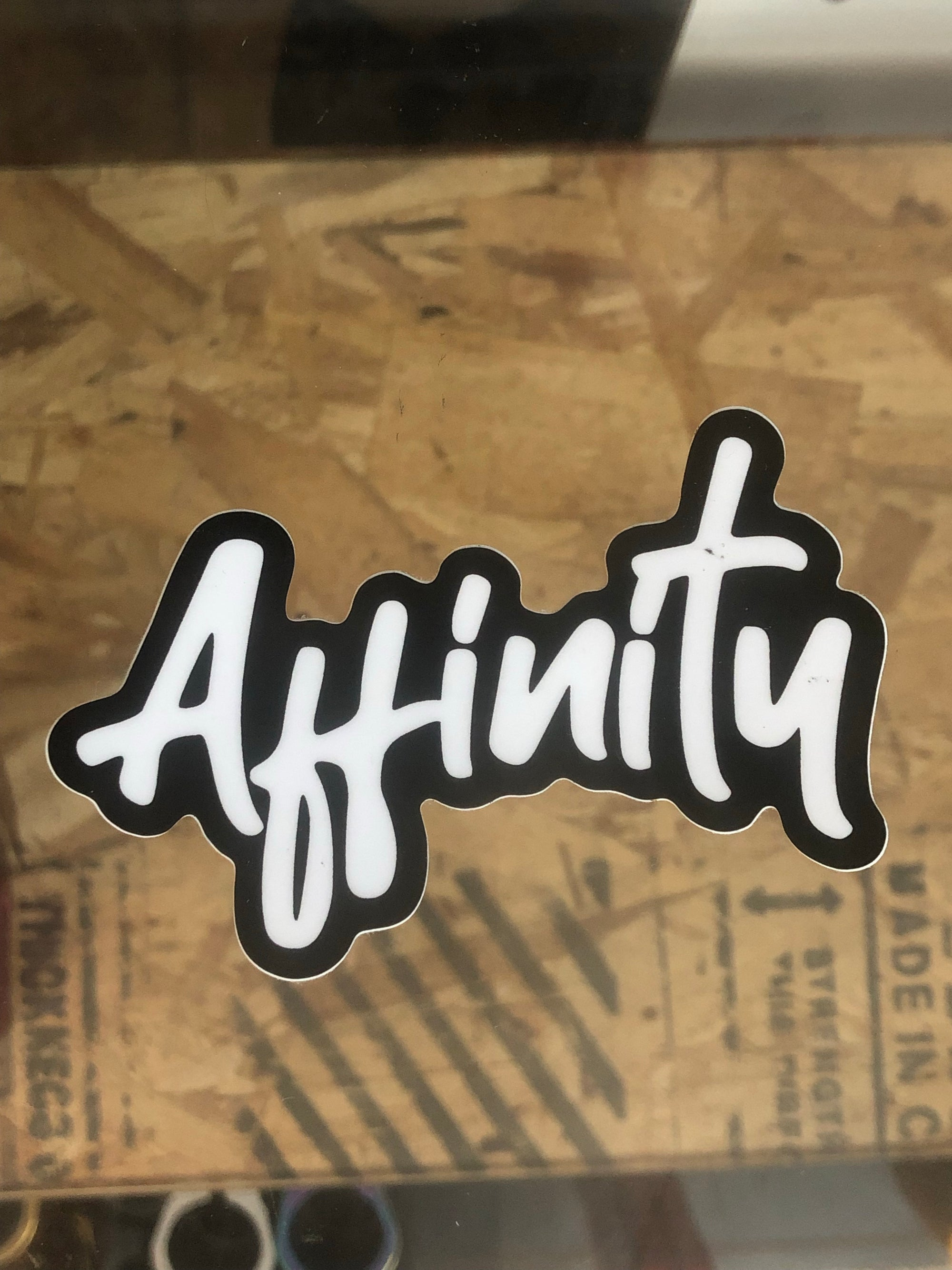 Affinity Script Sticker - Mothership