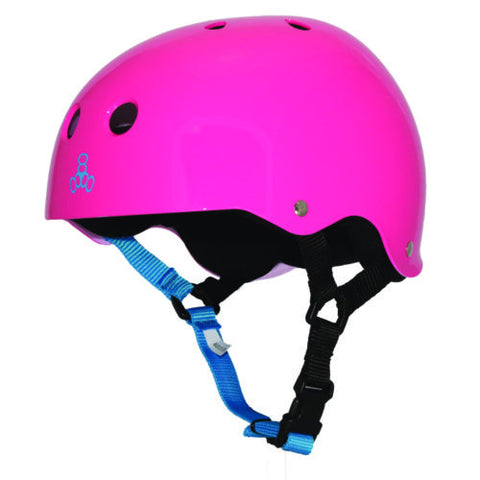 Triple Eight Brainsaver Neon Fuchsia Glossy