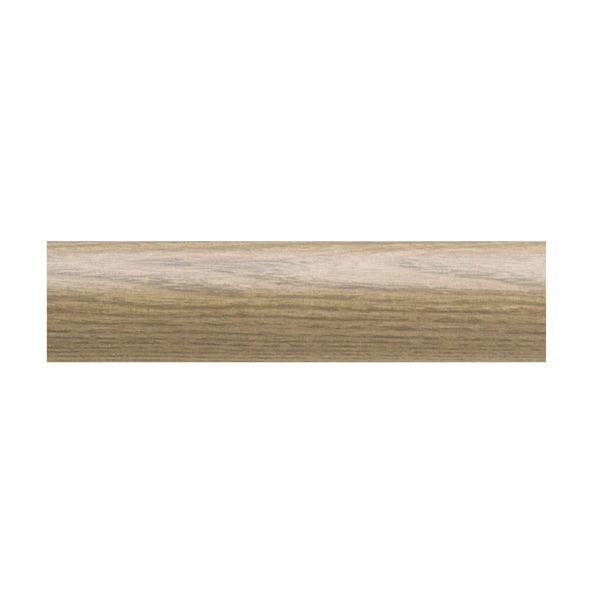 "1 3/4"" Valencia smooth wood pole, 81 weathered oak"