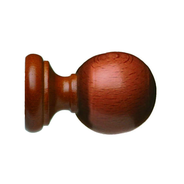 "Cordoba 2"" Smooth ball finial, finish 70 Honey"