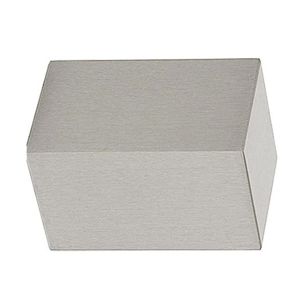 Lisbon 2130BLO Block finial, finish 29 Satin Nickel