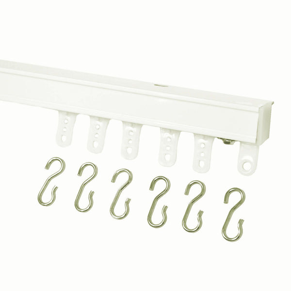 94004 curtain track white