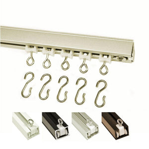 9600 hand draw ceiling mount hook carriers silver