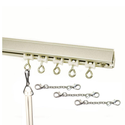 Wave fold 9600 curtain track set silver