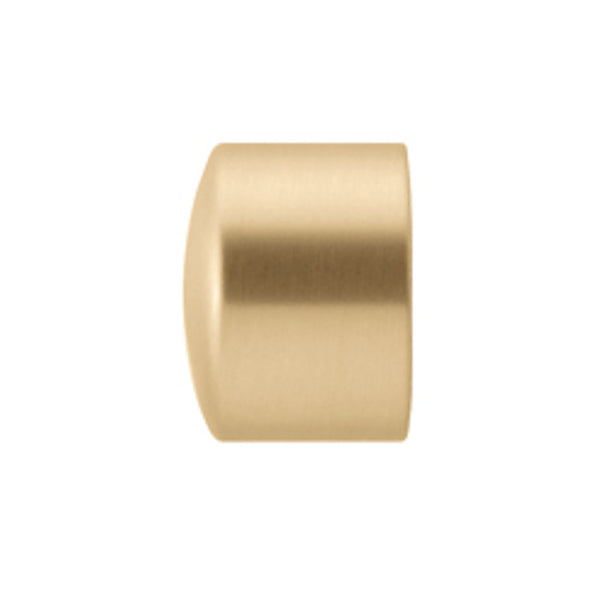 Dresden B124020 End cap finial, finish 24 satin brass