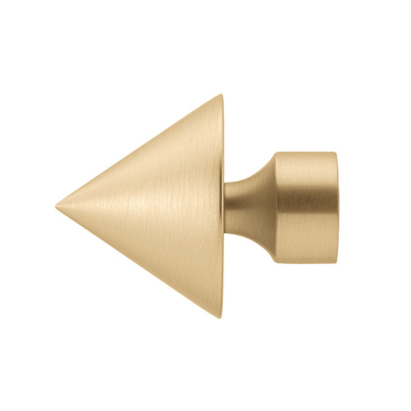 "3/4"" B3357 Dresden Riva finial, finish 24 satin brass"