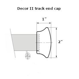 Decor 2 curtain track end cap dimensions