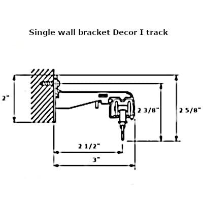 Decor I curtain track wall bracket dimensions