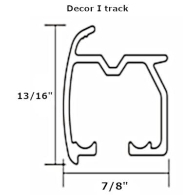 Decor I curtain track set profile
