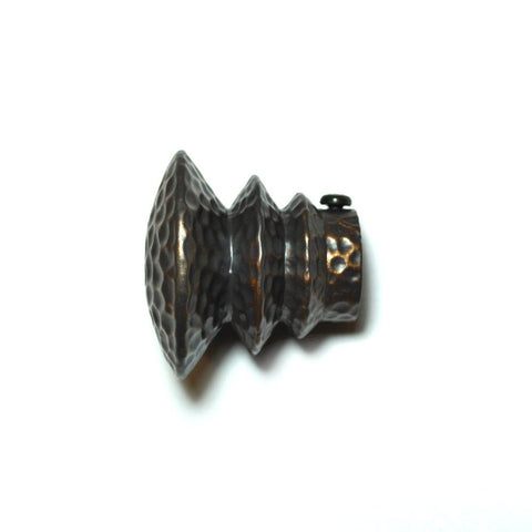 "Wrought iron everest finial 3/4"" grey copper"