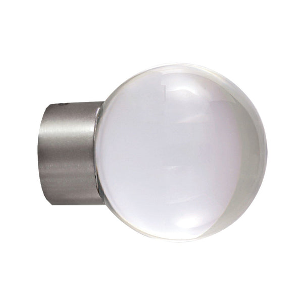 Lisbon 2130ACR Acrylic ball finial, 29 satin nickel