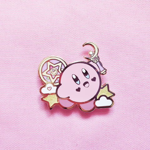 Kirby X Sailor Moon Enamel Pin