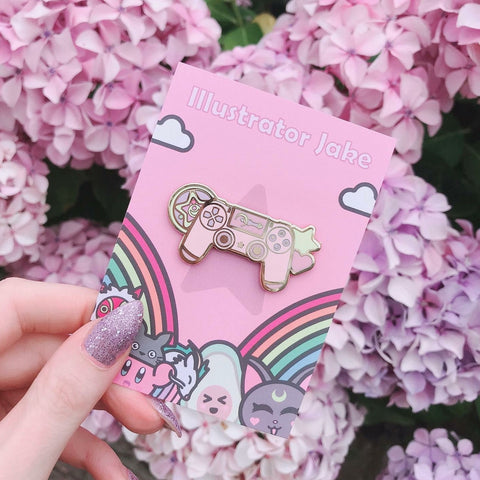 PS4 Magical Girl Enamel Pin