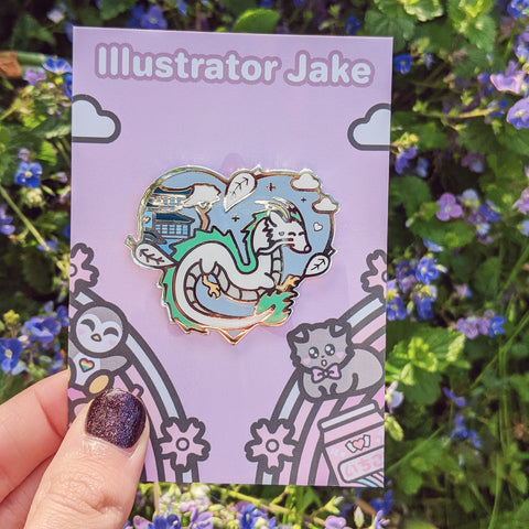 Winter Haku Enamel Pin