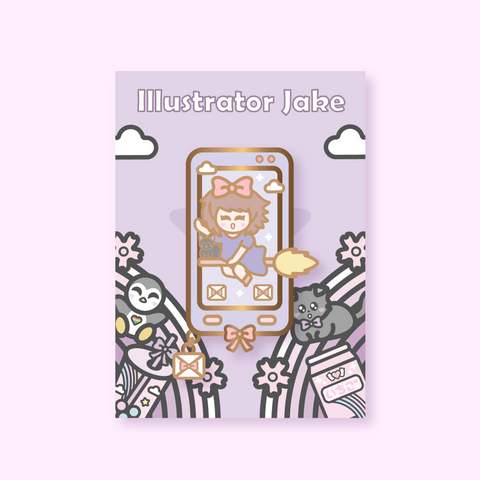 Kiki Phone Enamel Pin