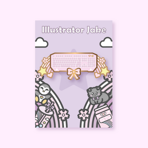 nintendo.grl X Illustrator Jake Keyboard Enamel Pin