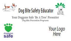 Dog Bite Safety Educator Business Cards - Customizable