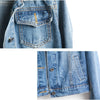 Ripped Hole Cropped Jean Jacket