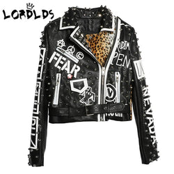 LORDXX Black Leopard Leather Jacket