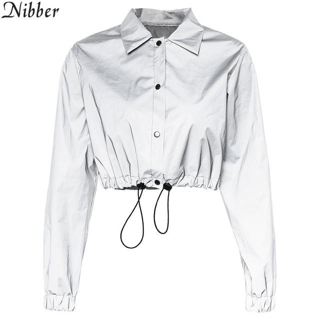Nibber fashion Reflective Fluorescence women jacket