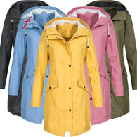 Feitong Women's Solid Rain Jacket