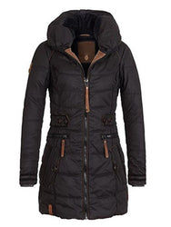 Parkas Thicken Outerwear solid hooded Coat