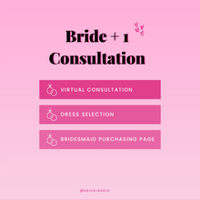 Load image into Gallery viewer, Initial Bridesmaid Dress Consultation (Virtual)