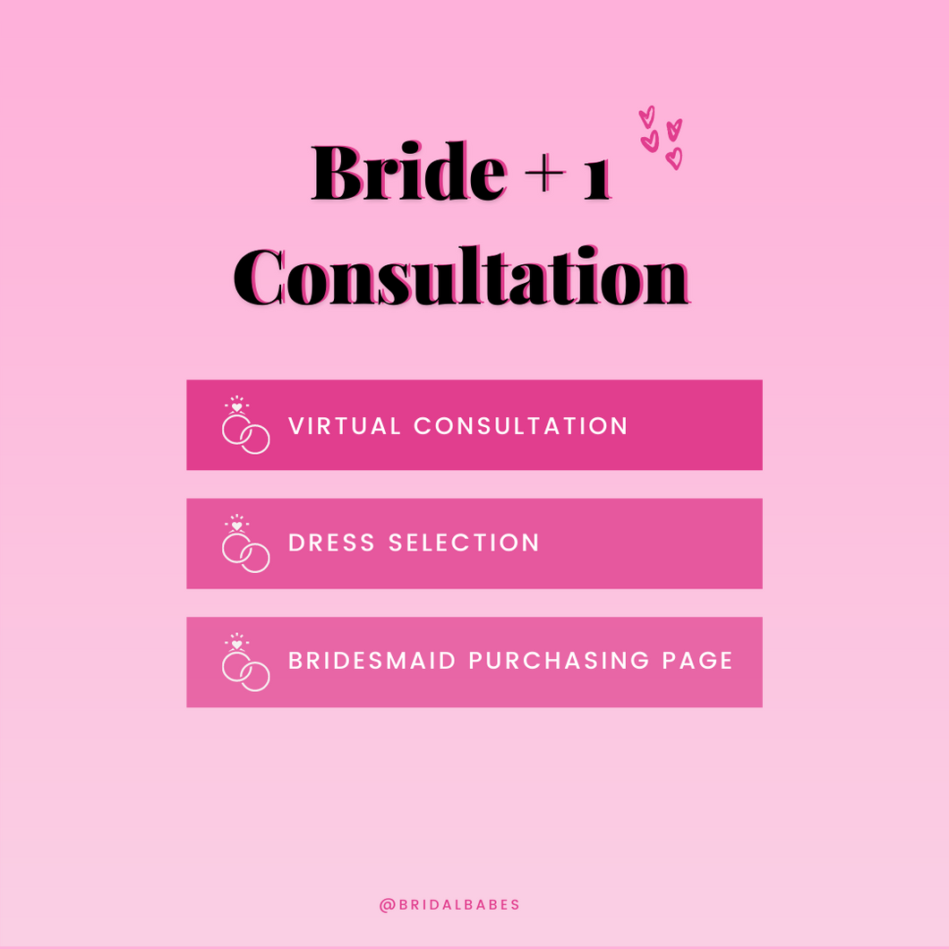 Initial Bridesmaid Dress Consultation (Virtual)