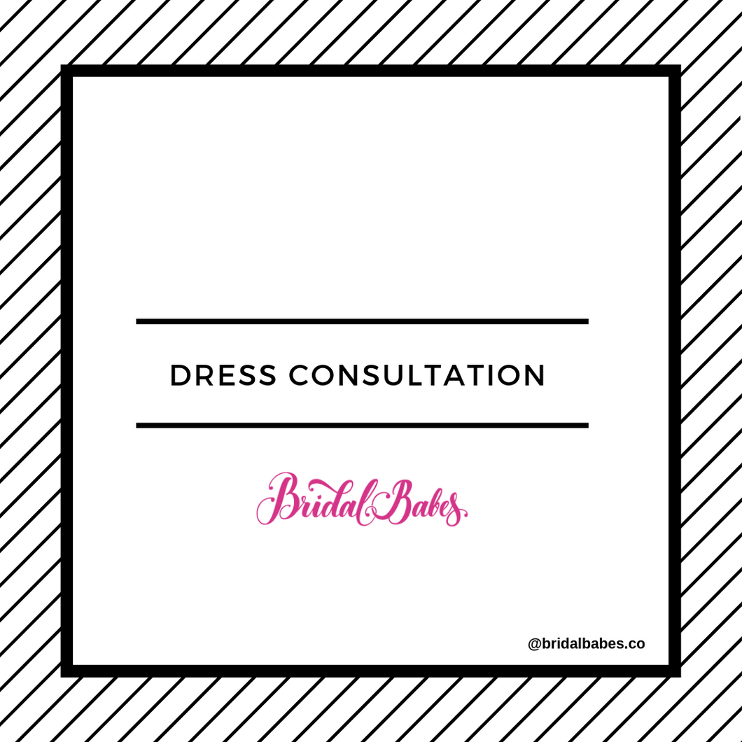 Mother of the Bride, Jr. Bridesmaid, or Flower Girl Dress Consultation (Virtual)