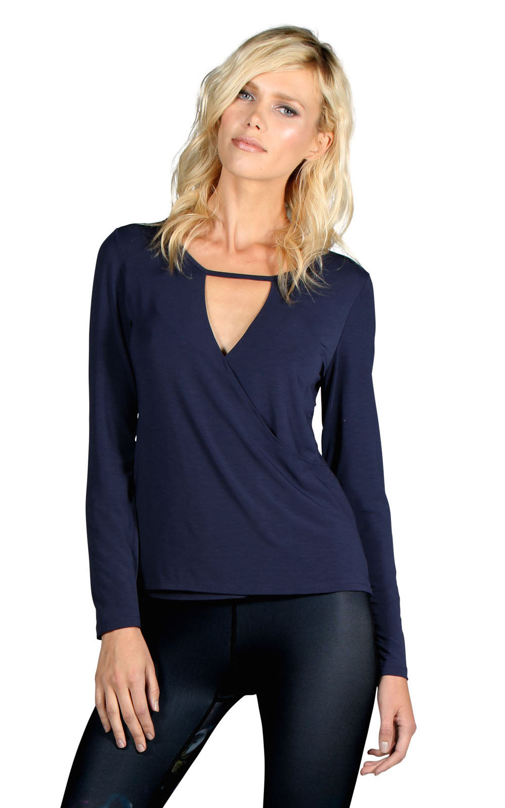 PERFORMANCE CASHMERE SURPLICE LONG SLEEVE