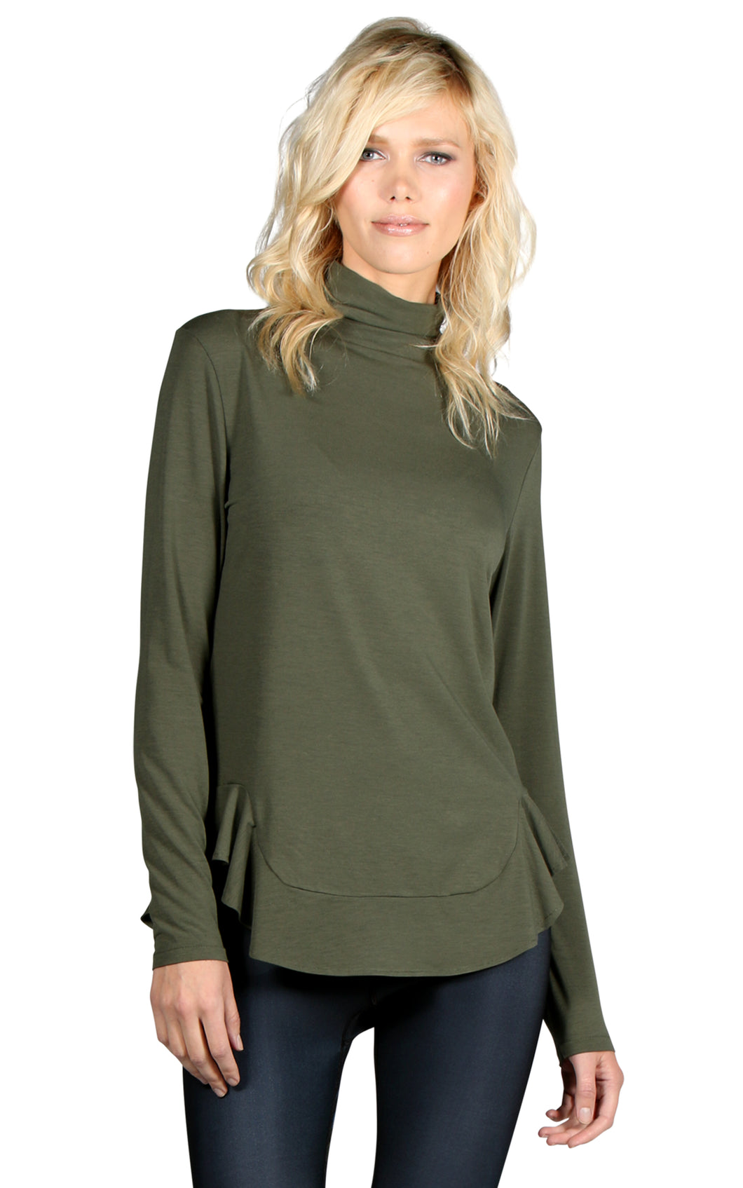 PERFORMANCE WOOL MOCK-NECK LONG SLEEVE