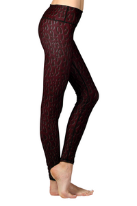 BASELAYER LEGGING - RED LEOPARD